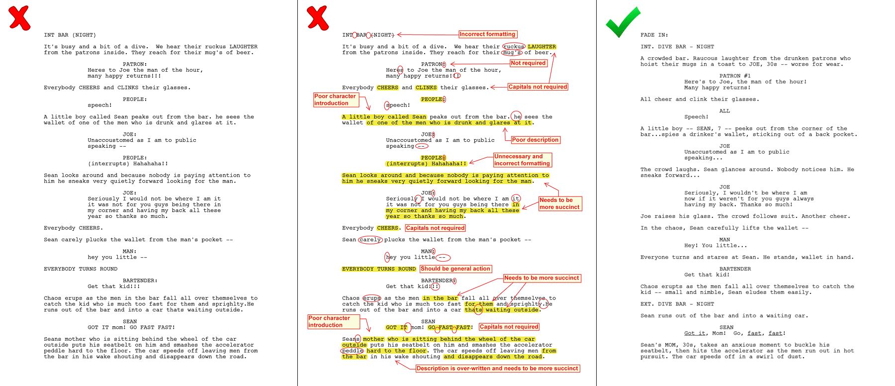 Screenplay Proofreading & Polish For Screenwriters